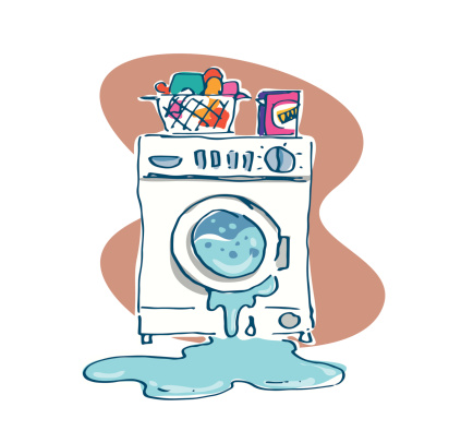 Overflowing Dishwasher Clip Art